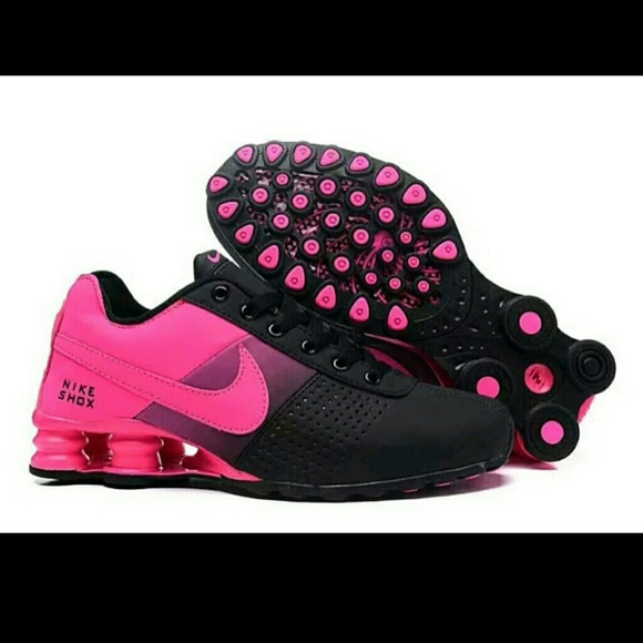 299330fd7cb HOT NEW Women Black Pink Fade Nike Shox Deliver